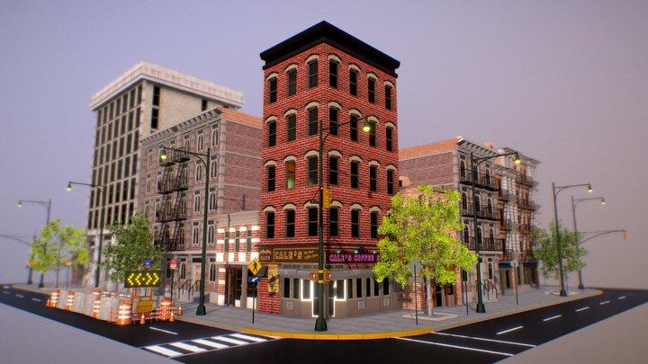 City Downtown Block 3D Model