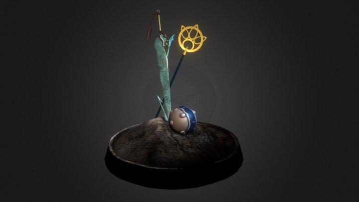 FFX Statue 3D Model