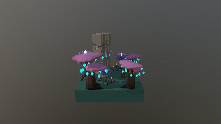 Alien Forest Scenario 3D Model