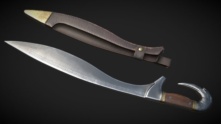 The Kopis, ancient Greek sword 3D Model