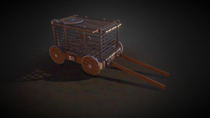Lowpoly prison wagon 3D Model