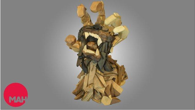 Screaming Hand 3D Model