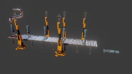 WIP Evil Robots 3D Model