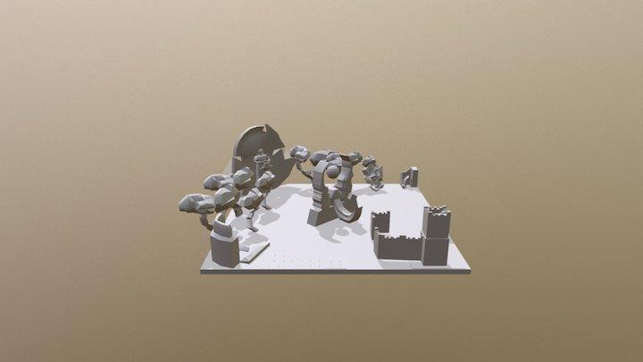 Courtyard Diorama 3D Model