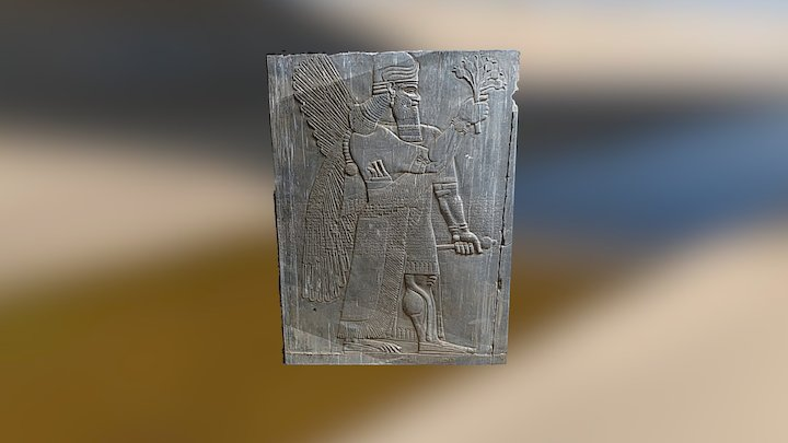 Assyrian stele from Nimrud's palace 3D Model