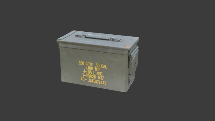 US Army .50 CAL Ammo box 3D Model