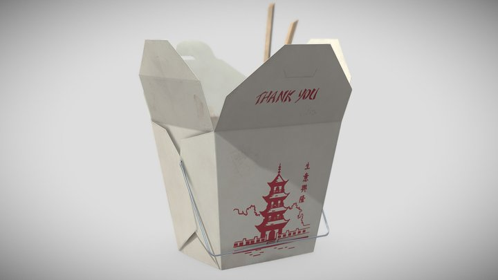 Chinese Food Box 3D Model