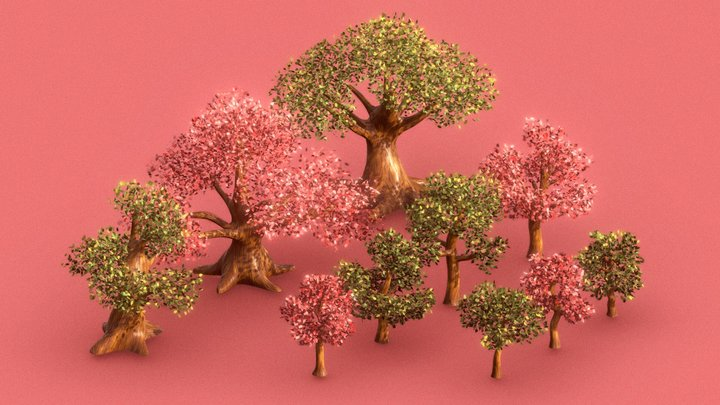 TREE PACK V1 3D Model