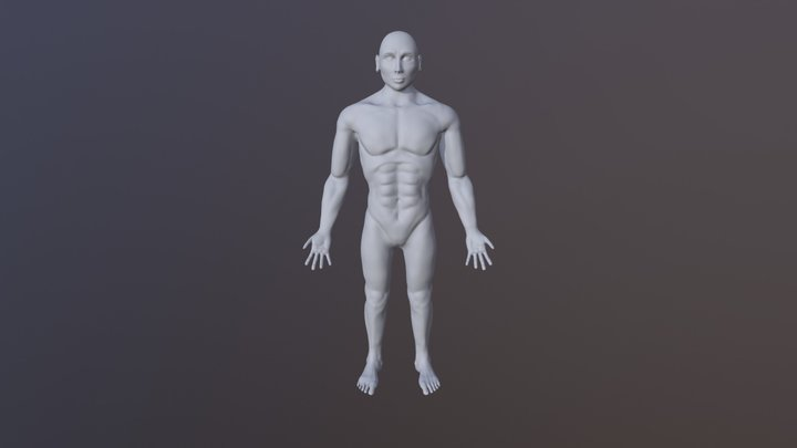 CMPM129 Midterm WIP Full Body WIP - Amiel Cox 3D Model