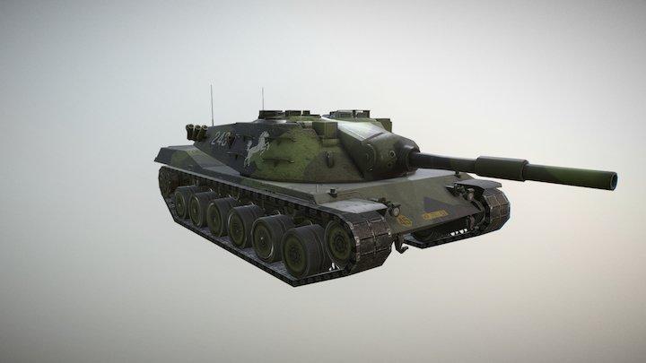World of Tanks Blitz: KpfPz 70 Tank 3D Model