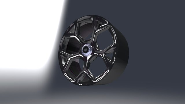 Lykan HyperSport Wheel 3D Model