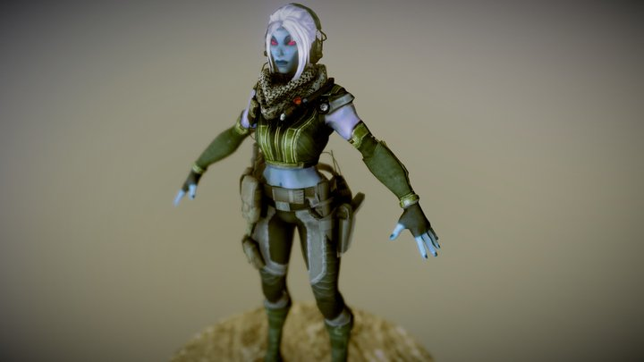 Vampire Operative 3D Model