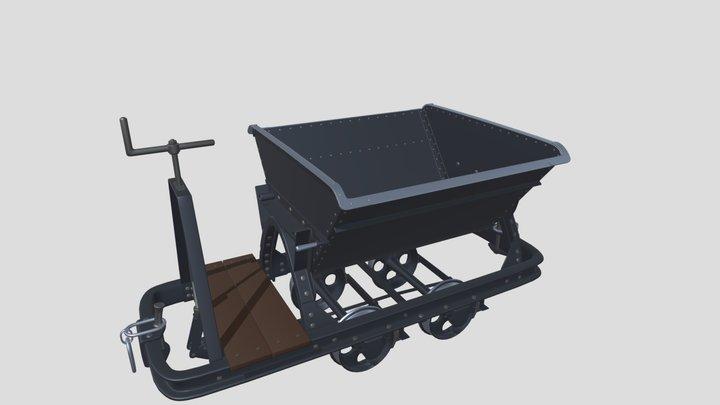 Coal mine trolley 3D Model
