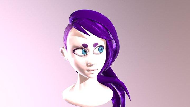 Sculpt January Day 13 - Punk 3D Model