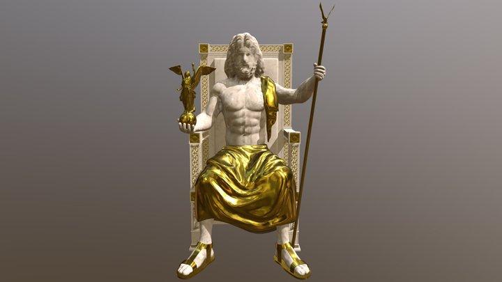 Zeus Statue 3D Model