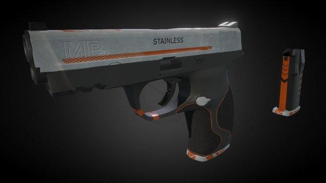"""MP40 """"Orange strike"""". Factory new variation. 3D Model"""