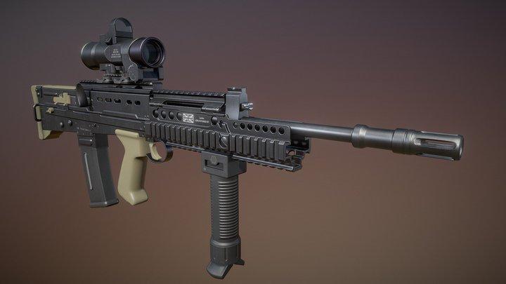 SA80 a2 Rifle 3D Model