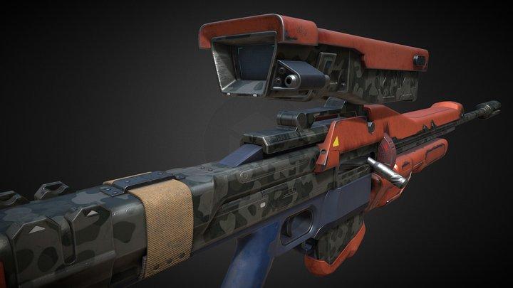 Destiny Sniper Rifle 3D Model