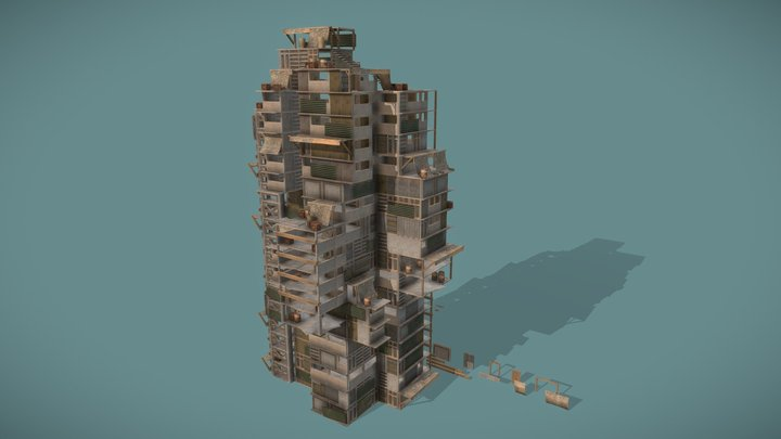 Building Walls Pack (Low-Poly) 3D Model