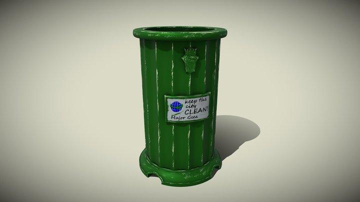 Trash Bin Stylized 3D Model