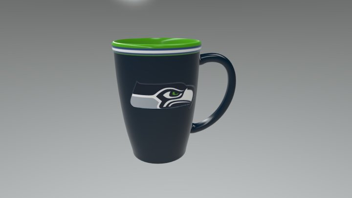 Seahawks Mug 3D Model