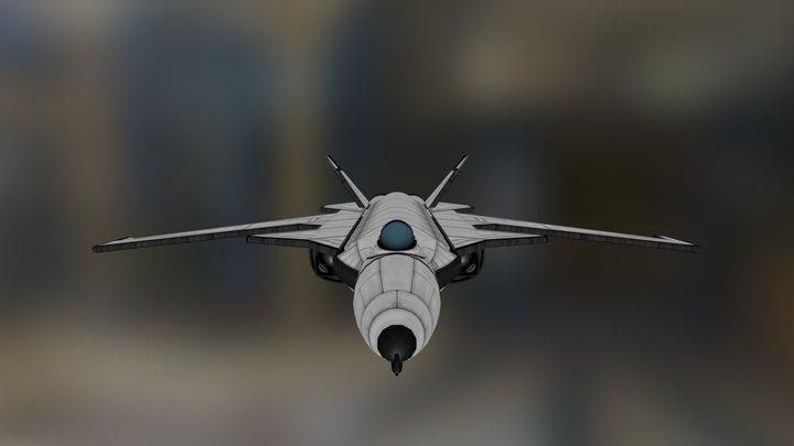 Blackbird B-X11c Golden Raven Mk3 3D Model