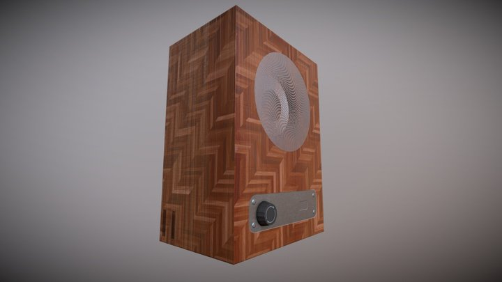 Generic Blocky Wooden Speaker 3D Model