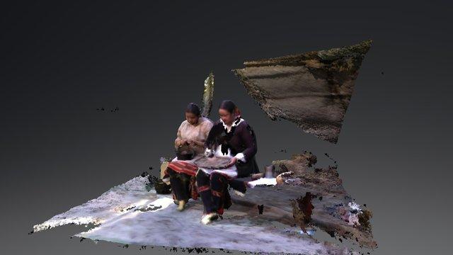 Jaime Wauneka & Andrea Leader Charge. 3D Model