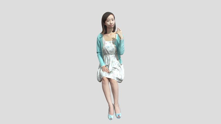Free 091 Aya OBJ 3D Model