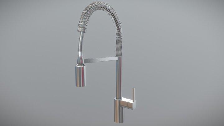 Moen Align One-Handle Spring Kitchen Faucet 3D Model