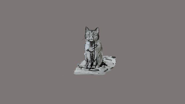 Tilt Brush Idfa Doclab Cat 3D Model