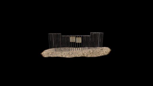 Border_Wall_High 3D Model