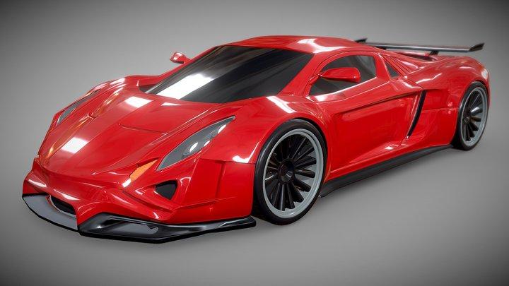Efeos supercar concept 3D Model