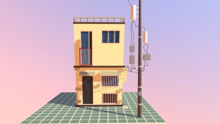Home Cartoon 3D Model