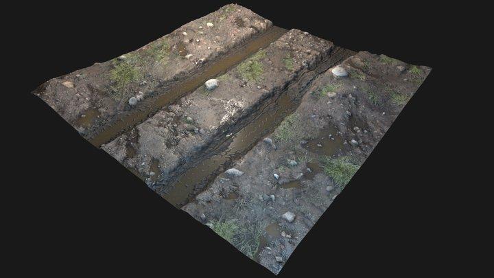 Dirty mud road material 3D Model