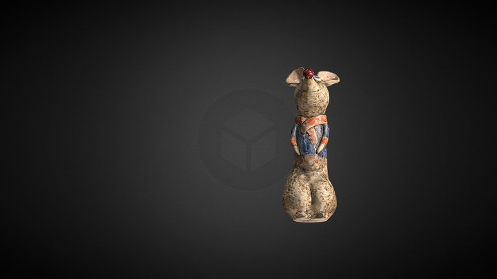 Ceramic Mouse OBJ File Format 3D Model