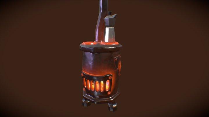 #3December #Day2 Grandma's stove 3D Model