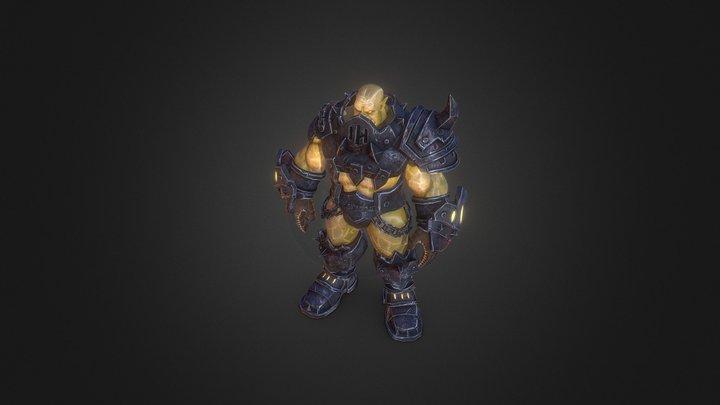 Black Rock Ork (World Of Warcraft) Fan Art 3D Model