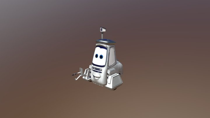 Silver and white robot 3D Model