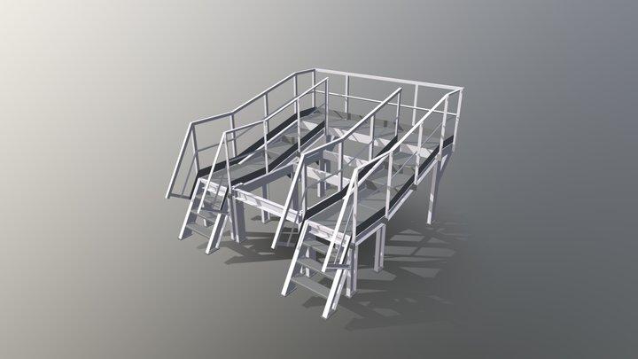 Derrick Screen Platform ● Площадка грохота 3D Model