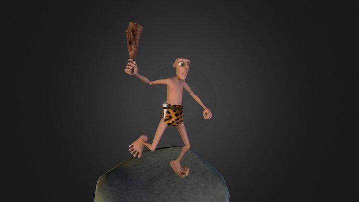 Caveman character Modeling in Maya 3D Model