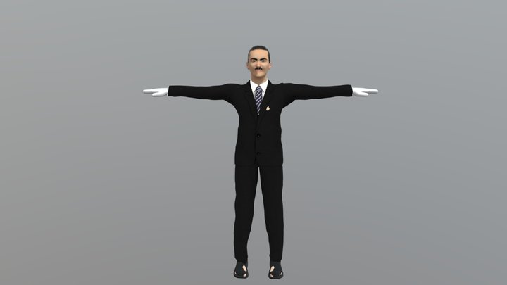 Mr Panpan 3D Model