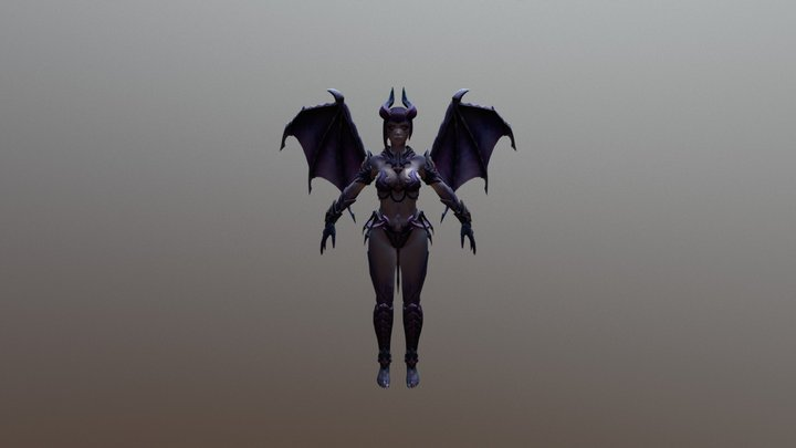 Hel V4 Skin6 Dark 3D Model