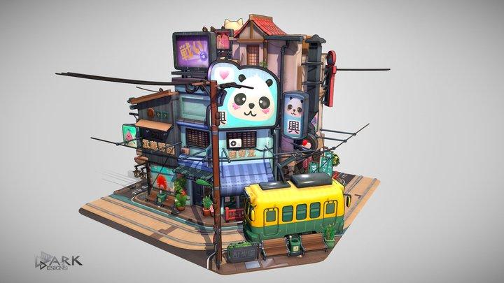 [Colorful Anime] Littlest Tokyo Challenge 3D Model