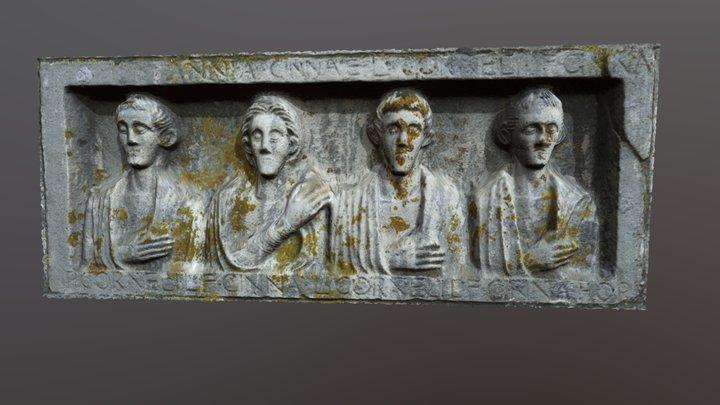 Funerary roman stele 3D Model
