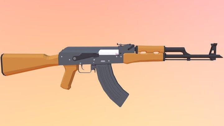 Low Poly AKM 3D Model