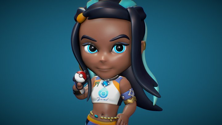 Nessa Figurine - Pokemon - 3D Printable 3D Model