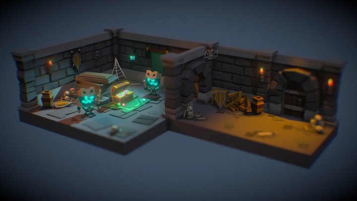 Tiny Dungeon 3D Model