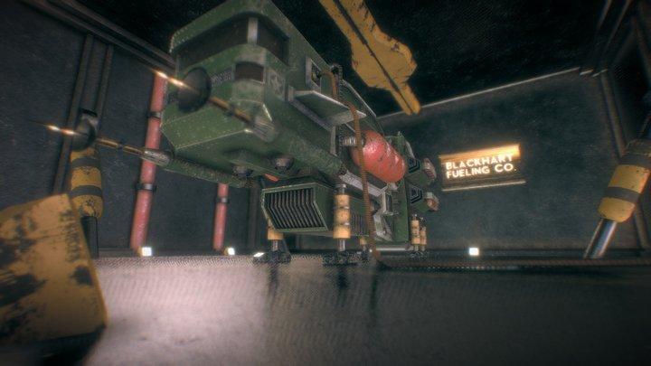 Titan Docked 3D Model
