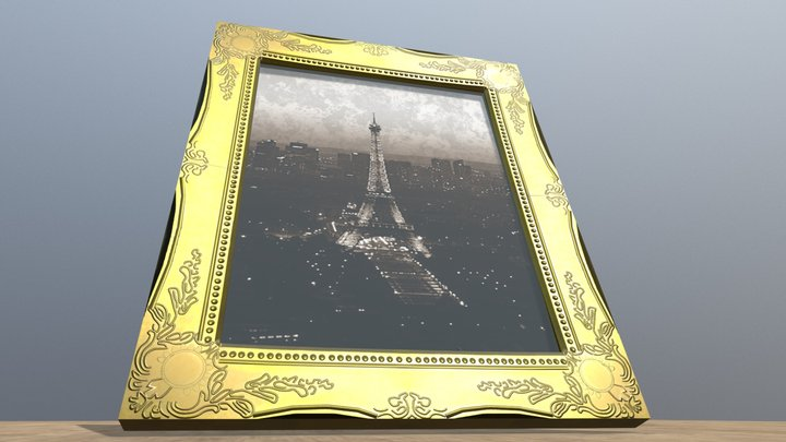 Ornate Picture Frame 3D Model